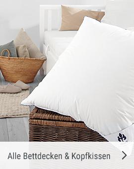 Alle Bettdecken und Kopfkissen