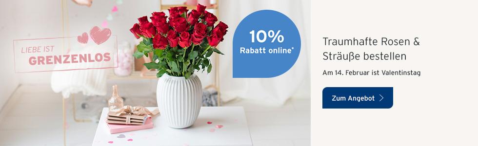 Valentinstagsblumen aktion