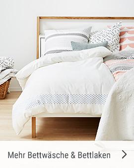 Mehr Bettwäsche und Bettlaken