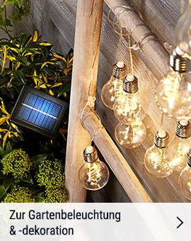 Zur Gartenbeleuchtung & -dekoration