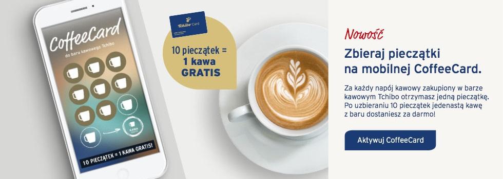 Aktywuj CoffeeCard i ciesz się jedenastą kawą gratis w naszym coffee barze w sklepach stacjonarnych!