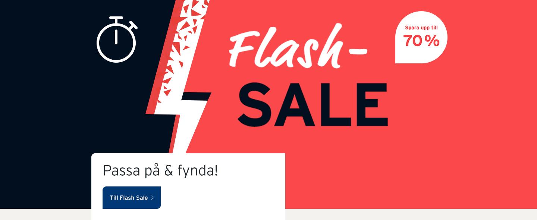 Flash Sale: Spara nu
