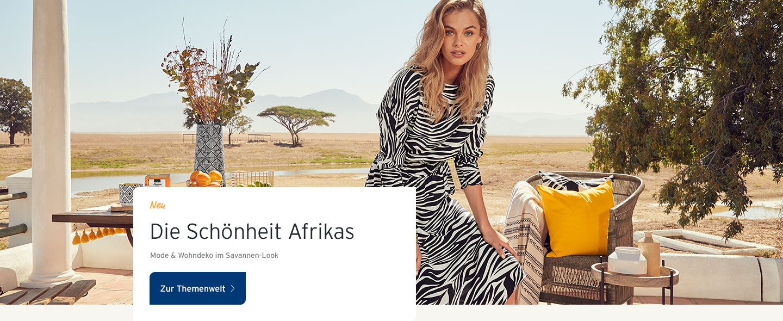 Mode und Wohndeko mit der Schönheit Afrikas.