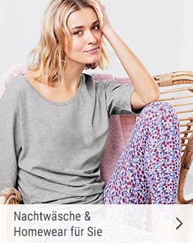 Nachtwäsche und Homewear für sie