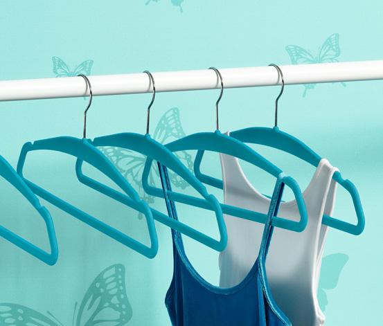 Ramínka na šaty 8 ks, modrá