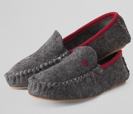 Papuče z vlněné plsti