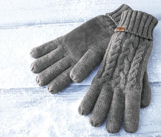 Damskie rękawiczki z dzianiny