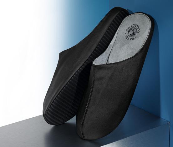Cestovní papuče, černé