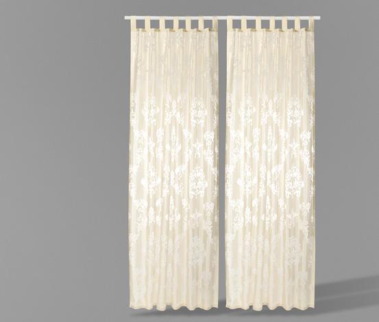 Průhledné záclony 2 ks, nadměrná délka