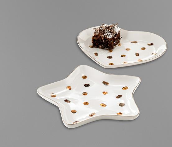 Talerze porcelanowe, 2 sztuki