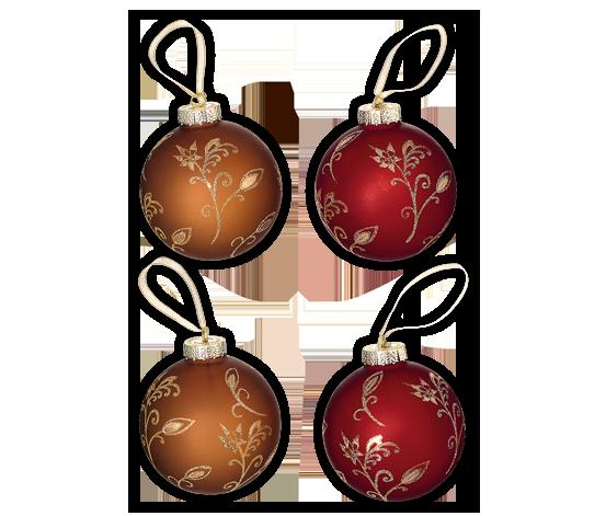Vánoční koule 4 ks