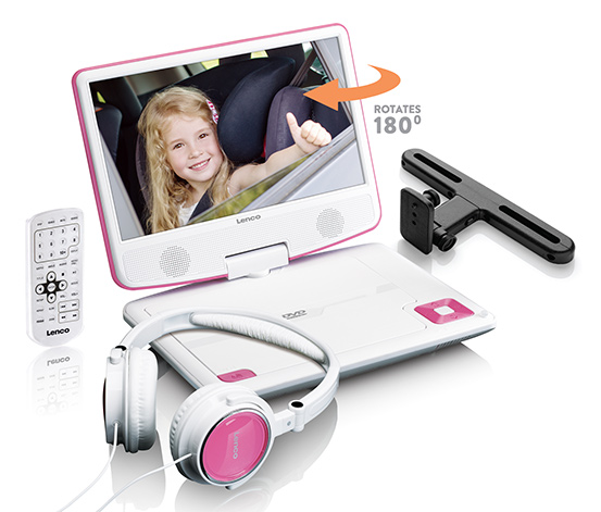 Lenco portabler DVD-Player »DVP-910«, pink