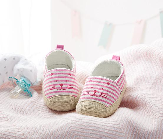 Pembe Organik Pamuklu Ayakkabı