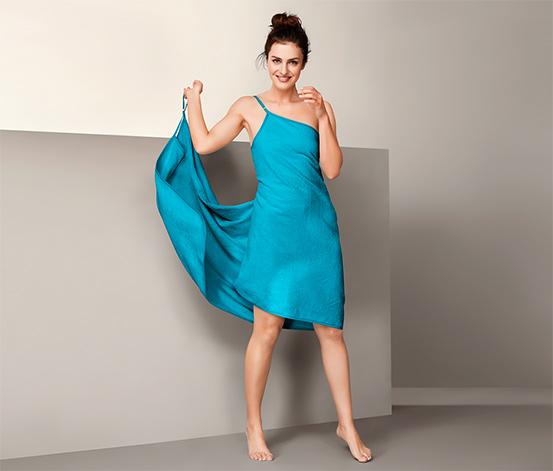 Bawełniany ręcznik - sukienka, turkusowy