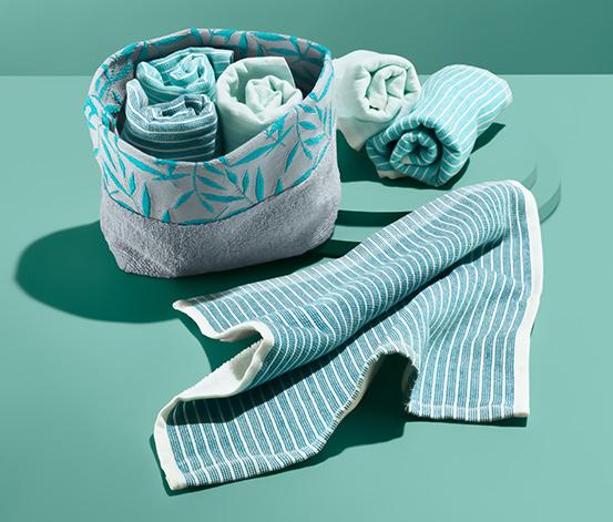 Zestaw 6 bawełnianych ręczniczków ok. 30 x 30 cm, w koszyku