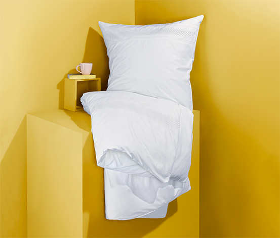Perkal-Bettwäsche mit Stickerei, Normalgröße