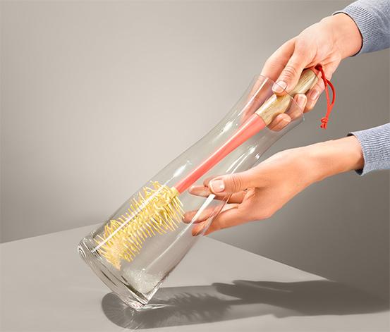 Szczotka do czyszczenia butelek i wazonów