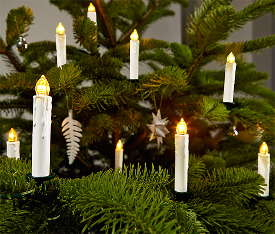 25 bougies à LED pour sapin de Noël