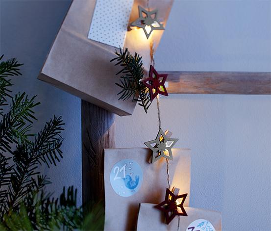 Guirlande lumineuse à LED avec des étoiles