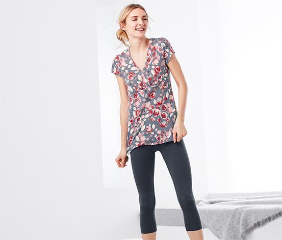 Çiçek Baskılı Organik Pamuklu Pijama Takımı