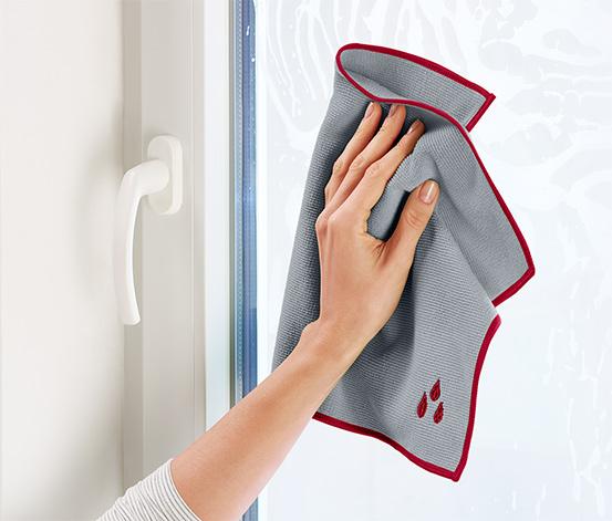 1 Fenstertuch und 1 Poliertuch