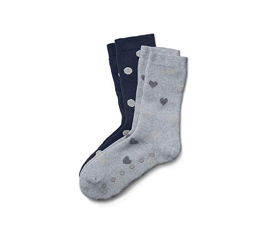 2 paires de chaussettes antidérapantes