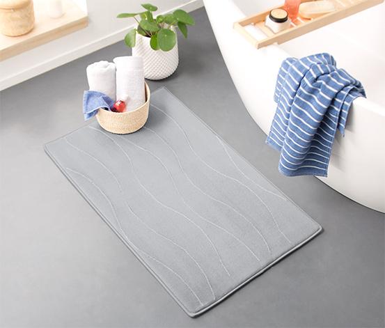 Piankowy dywanik łazienkowy 60x100 cm, w szare fale