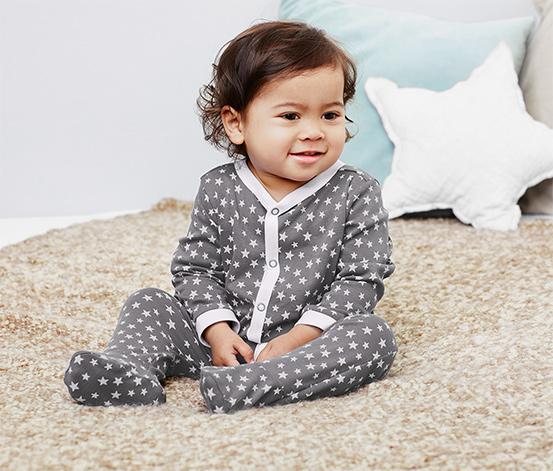 Jednoczęściowe piżamy dziecięce rozpinane na całej długości, 2 sztuki