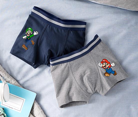 2 fiú Super Mario boxer alsó szettben