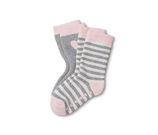 Pembe Gri Termal Çorap