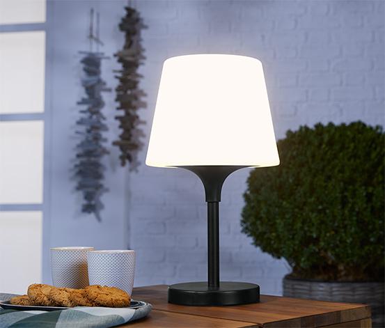 Kültéri asztali lámpa, fekete
