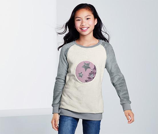 Kuschelsweatshirt mit Wendepailletten