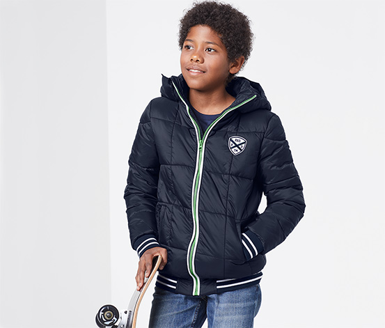Ciepłochronna kurtka pikowana dla chłopca