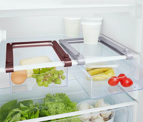 Vyťahovacie koše do chladničky, 2 ks