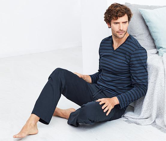 Férfi pizsama, kék