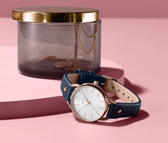 Dámske hodinky s koženým remienkom