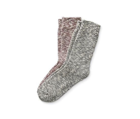 2 pár női kötött zokni, színes