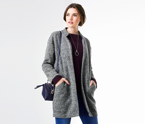 Mikinový kabát