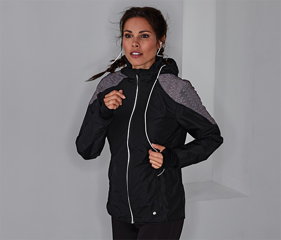 Windprotection-Laufjacke mit Reflektor
