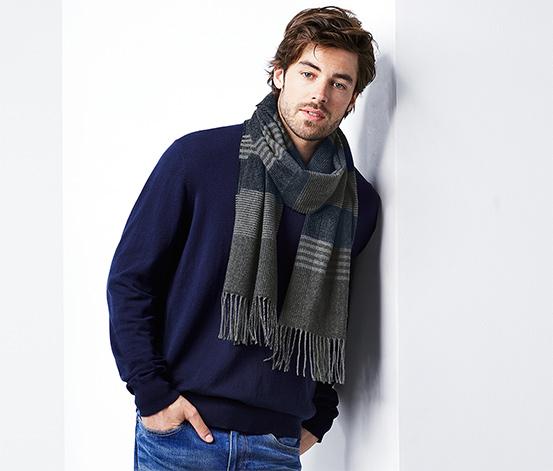 Écharpe tricotée en cachemire