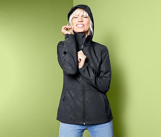 Női softshell dzseki, fekete