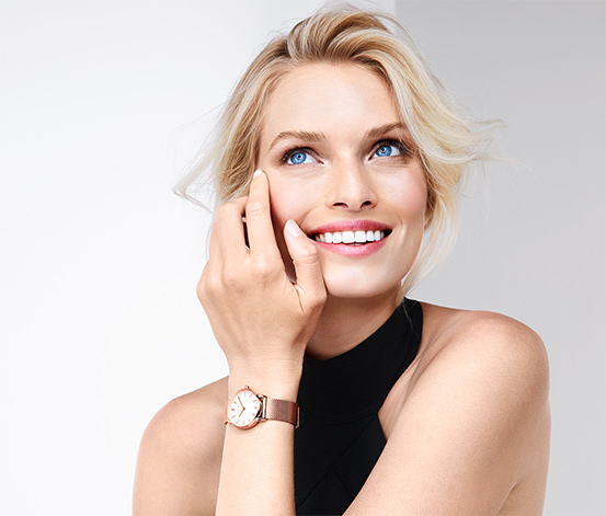 Zegarek damski na bransoletce typu Milanaise
