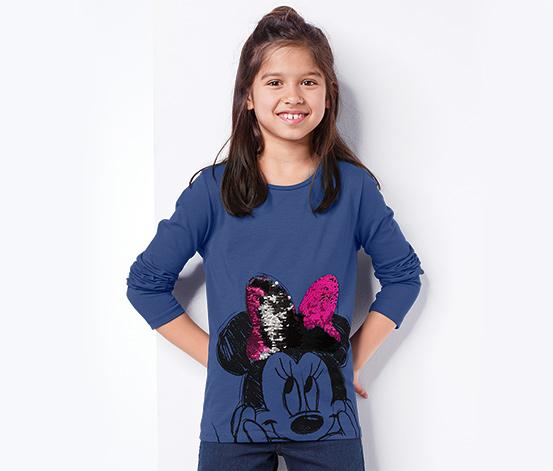 Tričko s dlhým rukávom »Disney« s obojstrannými flitrami