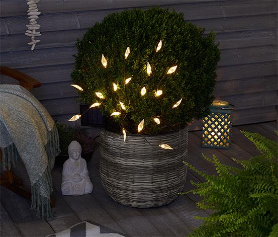 Arbuste solaire avec feuilles à LED