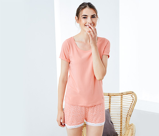 Női rövidnadrágos pizsama, mintás