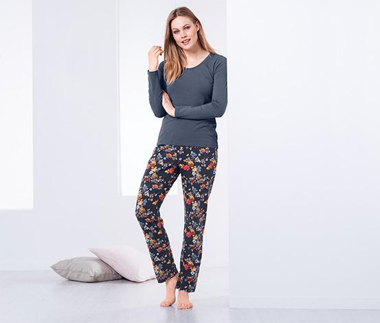Női pizsama, virágos