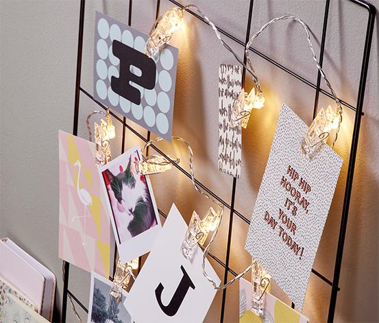 Světelný řetěz s LED a kolíčky