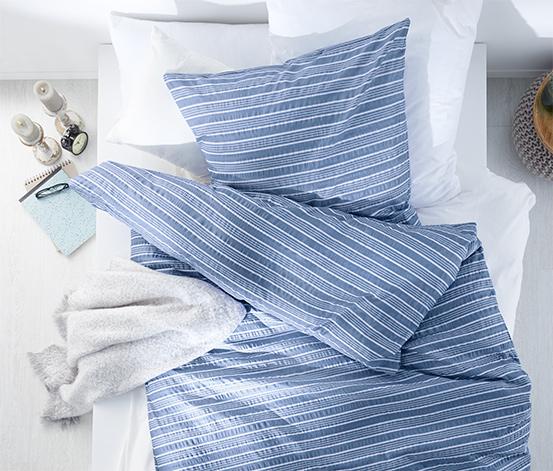 Mikroszálas krepp ágynemű, csíkos, kétszemélyes