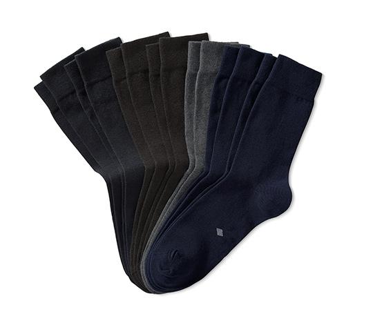 7 pár férfi zokni szettben, kék