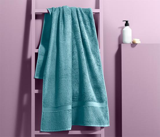 Ręcznik frotté z bordiurą 70x140 cm, niebieski